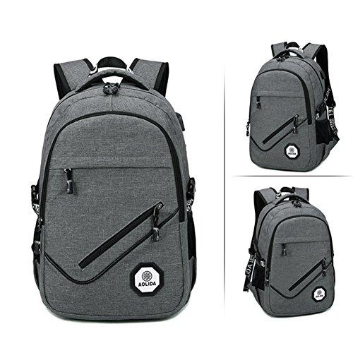 Imagen de business  para portátil, impermeable resistente al rasgón casual rucksack los estudiantes backpack con usb puerto de carga,se adapta a hasta 15,6