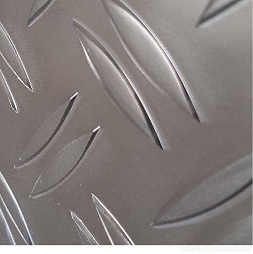 Warzenblech Zuschnitt aus Alu Blech geriffelt walzblank natur Zuschnitt nach Ma/ß Gr/ö/ße 100 x 100 mm 10 x 10 cm bestell-dein-Blech Metall Aluminium Riffelblech duett 2,5//4,0 mm stark Tr/änenblech