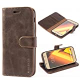 Mulbess Ledertasche im Ständer Book Case / Kartenfach für Samsung Galaxy A5 (2017) Tasche Hülle Leder Etui,Vintage Braun