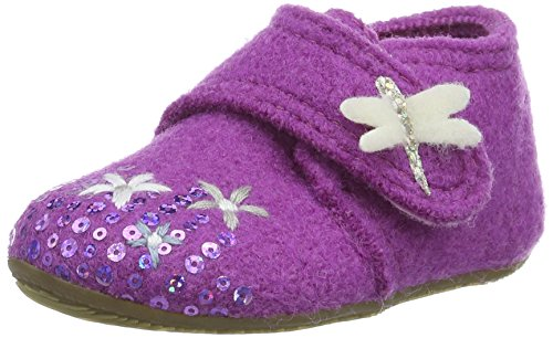 Living Kitzbühel Babyklett Blumenwiese Und Schmetterling, Chaussures Marche Bébé Fille Violet - Violett (iris 371)