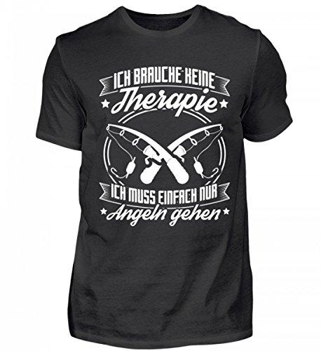 Chorchester Hochwertiges Herren Shirt - Angeln IST Therapie! (Angeln-leuchten Für Boote)