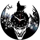 EVEVO Batman Wanduhr Vinyl Schallplatte Retro-Uhr groß Uhren Style Raum Home Dekorationen Tolles Geschenk Wanduhr Batman