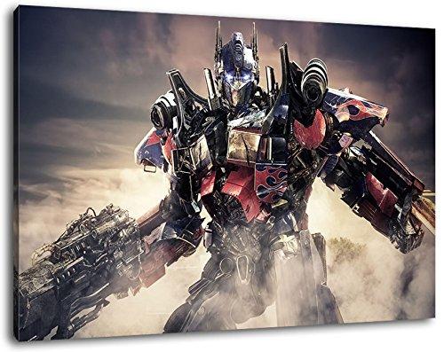 Transformers Format 100x70 cm Bild auf Leinwand, XXL riesige Bilder fertig gerahmt mit Keilrahmen, Kunstdruck auf Wandbild mit Rahmen (Poster Megatron)