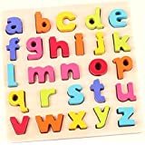 Toyshine Premium Wooden English Small Letters Puzzle Toy, Educational and Learning Toy - ABC