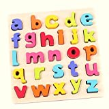 #7: Toyshine Premium Wooden English Small Letters Puzzle Toy, Educational and Learning Toy - ABC