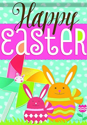 Carson Home Accents Flagtrends Klassische große Flagge Happy Easter Egg Basket