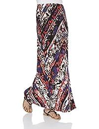 Roman Originals Women's Floral Chevron Long Maxi Fit Skirt Ladies Multicolored