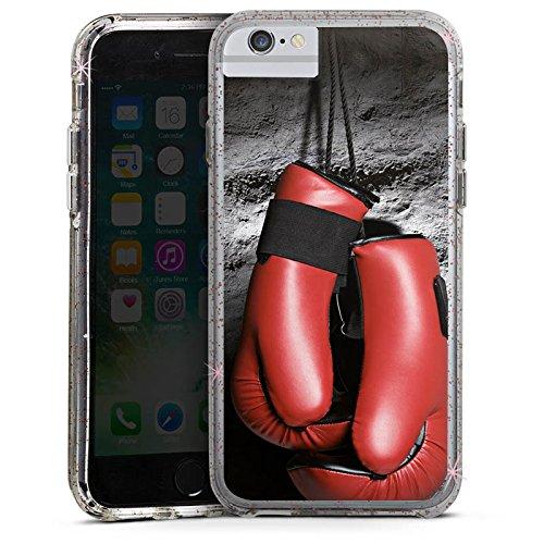 Apple iPhone 8 Bumper Hülle Bumper Case Glitzer Hülle Boxen Boxhandschuhe Fight Bumper Case Glitzer rose gold