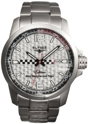 Elysee Grag Berghe Von Trips Limited Edition 80463S Men's Analog Quartz Watch with Chronograph and Stainless Steel Bracelet