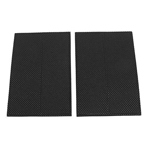 GLOGLOW 4pcs rutschfeste selbstklebende Pads Rechteck Gummi Bodenschutz Silent Feet Abdeckung für Möbel Tisch Stuhl (Silent Feet-anti-vibration)