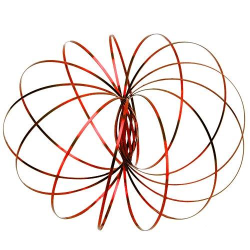 YooGer Toy Ring Flow Spring Kinetic Toroflux Flowtoys Braccio metallico 3d da6046becb7