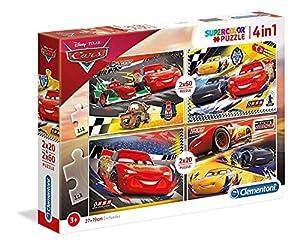 Clementoni 21305 Supercolor Puzzle-Cars-2 x 20 + 2 x 60 Piezas