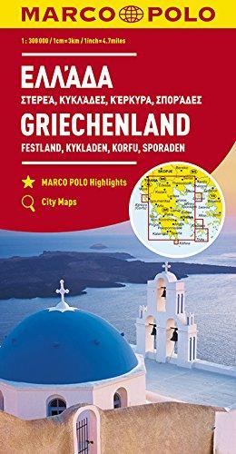 MARCO POLO Karte Griechenland, Festland, Kykladen, Korfu, Sporaden 1:300 000: Wegenkaart 1:300 000 (MARCO POLO Karten 1:300.000) -