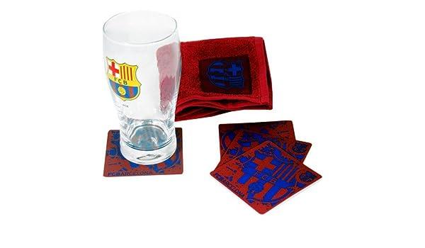 all4yourparty FC Barcelone Bar Set Barca Mini Chiffon Verre Pinte bi/ère Verre Ligue blaugr anabeer Glass