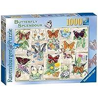 "Ravensburger-Puzzle-Schmetterling-Splendours-1000-Teile Ravensburger Puzzle ""Butterfly Splendours"", Schmetterlinge, 1000 Teile - Start -"