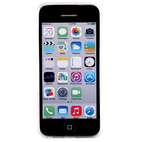 Wkae Case & Cover Pour iPhone 5C IMD Red Lips Motif Housse de protection TPU souple Blu-ray ( SKU : IP5C1000C ) IP5C1000A