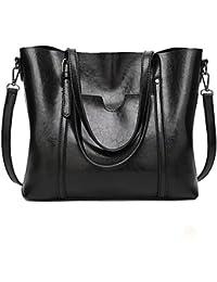 8a86eead25 Flada donna pu borsa in pelle di spalla casual vintage Tote signore borsa