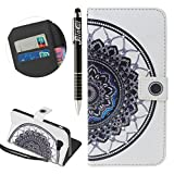 Custodia Galaxy A5 2016, Galaxy A5 2016 Flip Case Leather, SainCat Custodia in Pelle Flip Cover per Samsung Galaxy A5 2016, Ultra Sottile Anti-Scratch Book Style Custodia Morbida Cover Protettiva Caso PU Leather Custodia Libretto Antiscivolo Wallet Case Custodia a Portafoglio Shock-Absorption Wallet Cover Supporto Skin Cover Shell Magnetico Flip Case, ID Slot per Scheda Protettiva Custodia Pelle Case Coperture Bumper Antiurto Portafoglio Cover per Samsung Galaxy A5 2016-Datura immagine
