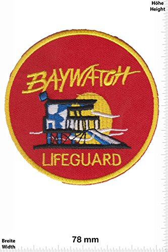 Cartoon-patch (Patch - Baywatch - Lifeguard - rund - Movie Game Patch - Cartoon - Comic - Patches - Aufnäher Embleme Bügelbild Aufbügler - Costume)