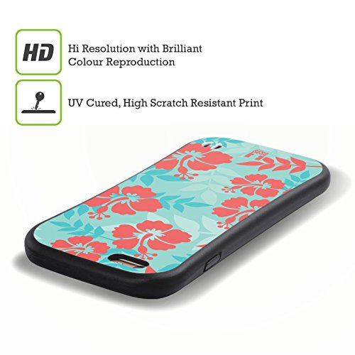 Head Case Designs Hibiscus Motifs Hawaïens Étui Coque Hybride pour Apple iPhone 5 / 5s / SE Hibiscus