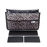 Periea Organizzatore di borsette - Chelsy Premio- 3 colori e dimensioni disponibili (Leopardo d'oro, Medio)