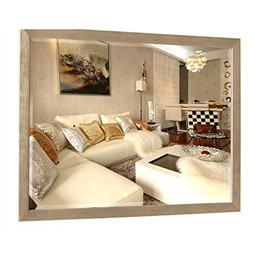 Miroirs d'argent De 5mm De Salle De Bains De Salle De Bains De Tenture Murale Simple en Bois Plein Modèle De Salle De Bains Cadeau De Beauté