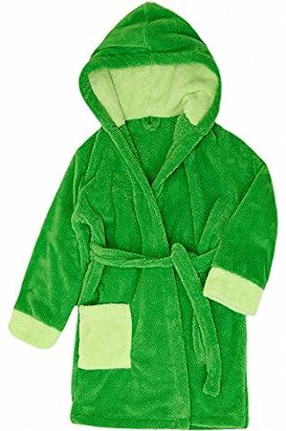 Timone Soft Bathrobe with Hood for Girls and Boys (Green/Light Green/Light Green (720/647/647), 110-116)