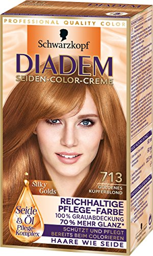 Diadem Seiden-Color-Creme 713 Goldenes Kupferblond Silky Golds Stufe 3