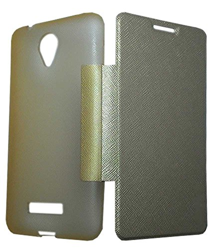 TBZ Flip Cover Case for Micromax Canvas 5 E481 -Golden
