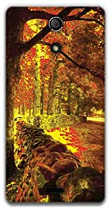 The Racoon Lean Forest hard plastic printed back case / cover for Sony Xperia ZR