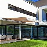 Outsunny Elektrische Garten-Tür Markise im Roll-Überdachung Terrasse Shelter W