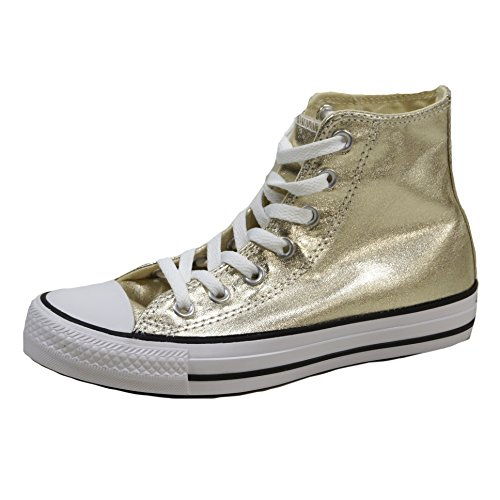 Converse Ctas Hi, A Collo Alto Donna, Oro (Light Gold/White/Black), 39 (Converse Donna All Star Hi)