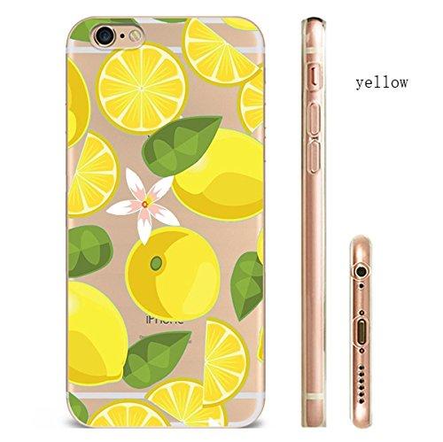 iPhone 7trasparente Cover Morbido Silicone Custodia TPU Limone Frutta modello Bumper Case Leggero Antigraffio stossdaempfende Custodia per l iPhone 7/7PLUS hw52