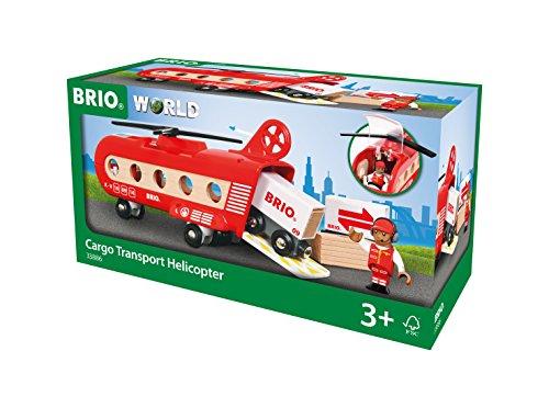 BRIO World 33886 - Eisenbahn-Transporthubschrauber Zubehörteil Holzeisenbahn