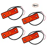AOHEWEI 4 Stück LED Seitenmarkierungsleuchten Anzeige der Positionsleuchte Lampe Vorderseite