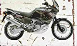 Honda XRV750 AfricaTwin 1998 Aged Vintage Photo Poster Print A4