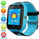 Niños Smartwatch - Localizador de posición GPS/LBS Reloj de Alarma SOS Infantil Relojes de Pulsera Cámara Digital Reloj móvil móvil Mejor Regalo para niños Compatible con iOS/Android
