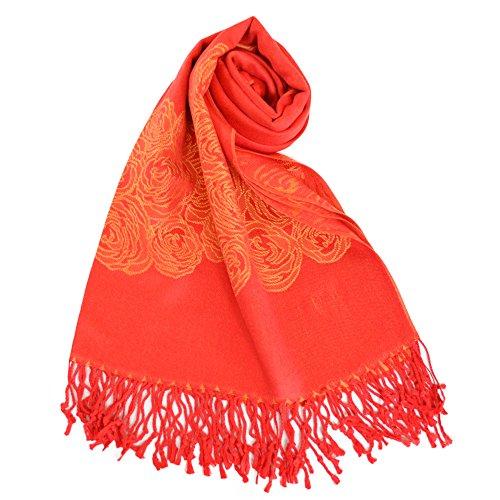 NEW COLORS - Châle - Femme rouge/orange