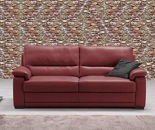 Vetrineinrete® piastrella adesiva 3d effetto pietra mattonella da parete autoadesiva ritagliabile murali adesivi parati arredamento rustico 30x30 cm