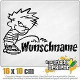 KIWISTAR piss on Wunschname 16 x 10 cm IN 15 FARBEN - Neon + Chrom! Sticker Aufkleber