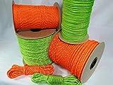 8mm / 60m Polyesterseil, Leuchtend Orange, reflektierend (0,87€/m)