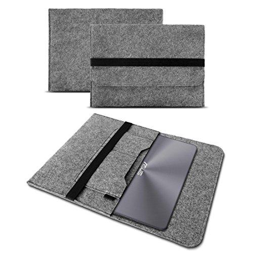 Deluxe Leder-notebook (UC-Express Sleeve Hülle kompatibel für Asus ZenBook 3 Deluxe Tasche Filz Notebook Cover 14 Zoll Laptop Case Schutzhülle, Farbe:Grau)