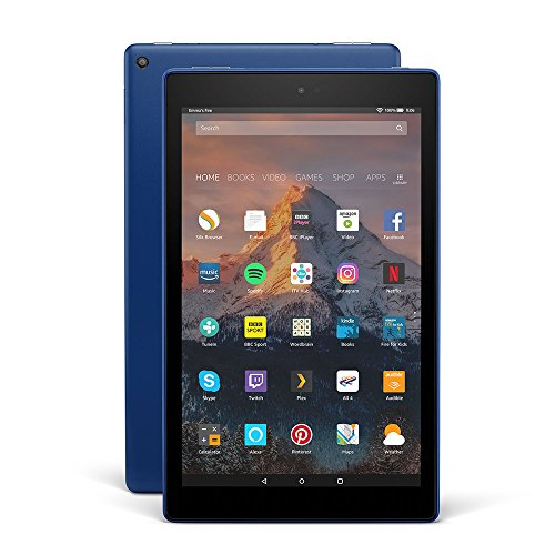 "All-New Fire HD 10 Tablet with Alexa Hands-Free, 10.1"" 1080p Full HD Display, 32 GB, Marine Blue – with Special Offers"