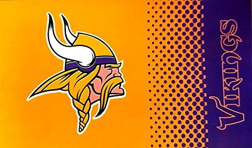 Flagge NFL Minnesota Vikings Fan - 90 x 150 cm + gratis Aufkleber, Flaggenfritze®
