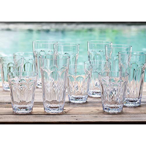Tritan Highball und Glas Trinkglas-Set, 12 Stück, transparent - 12 Highballs