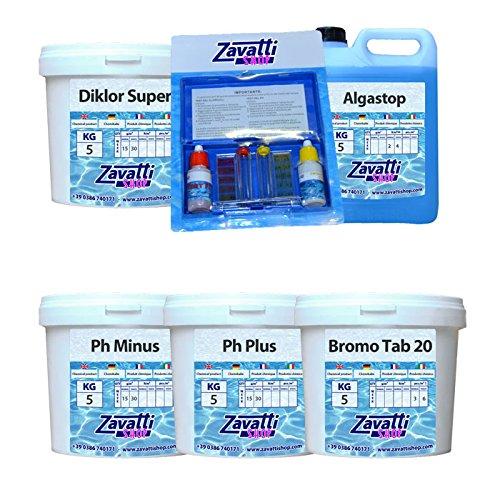 Kit Spa Hidro prodotti chimici per mini piscine - Spa Chimiche Bromo