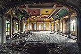 Artland Qualitätsbilder I Wandtattoo Wandsticker Wandaufkleber 90 x 60 cm Architektur Gebäude Theater Foto Bunt C8UJ Lost Place Ballsaal der Letzte Tanz