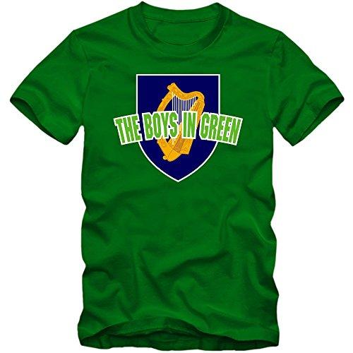 Irland WM 2018#4 T-Shirt | Éire | Fußball | Herren | The Boys in Green |Trikot | Nationalmannschaft, Farbe:Hellgrün (Kelly Green L190);Größe:XXL -