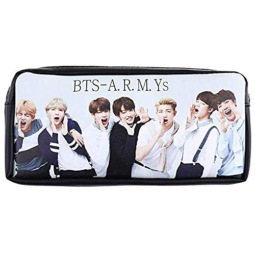 PATPAT® Kpop BTS Bangtan Boys Pencil Case BTS Pouch Coin Bag School Supplies BTS Stationery Gift Zipper Bag (H11)