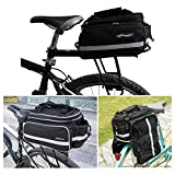 Fahrradtasche Fahrrad Satteltasche Gepäcktasche Gepäckträger Tasche Rucksack Seitentasche,Material: Polyester,32 * 28 * 17 cm,Farbe schwarz